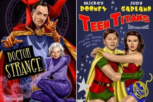 Joe Phillips Imagines Old Hollywood Takes on Superhero Movies