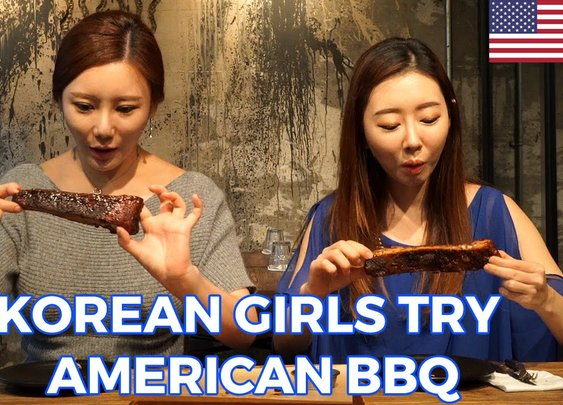 Korean Girls Try American BBQ For the First Time