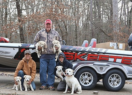 Mark Davis and family rescue six dogs
