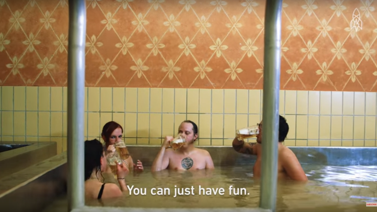 Watch: This Beer Hot Tub Is Every Frat Guy's Dream - Eater