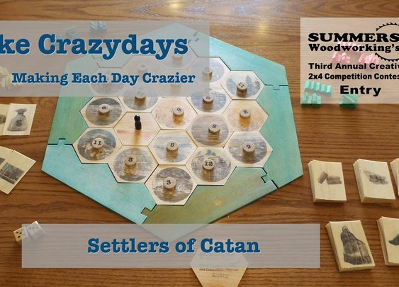 Settlers of Catan from a 2x4 - YouTube