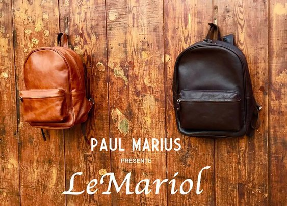 leather Backpack - Mochila Vintage LeMariol - Malas de Homem