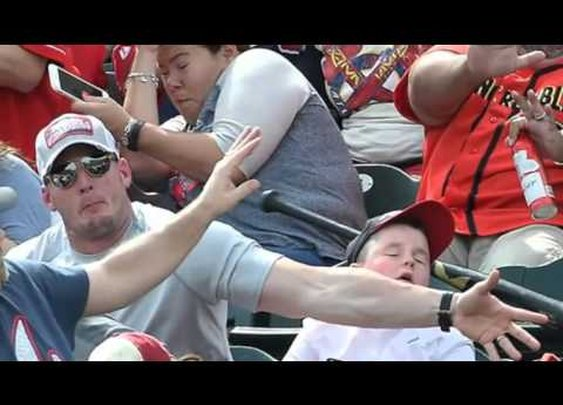 Fan Saves Kid
