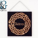 Slainte Celtic knot hanging wood burn display by HopeAndGracePens