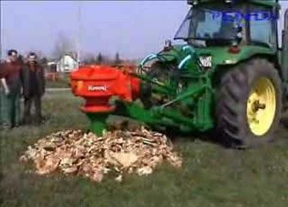 John Deere 8100 and Rotor S stump grinder - YouTube