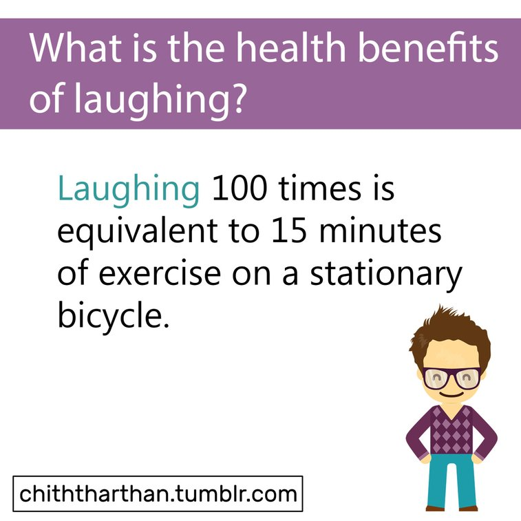 What is the health benefits of laughing?