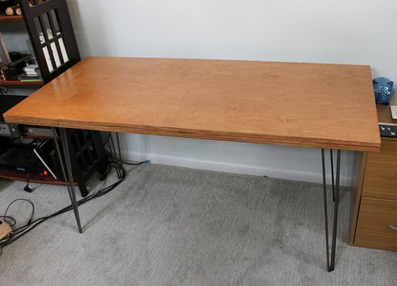 From the Gentlemint Blog: How to Build an Inexpensive Mid-Century Desk in a Weekend