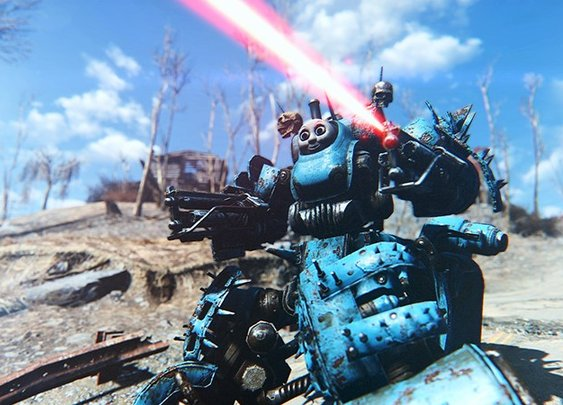 Fallout 4 Robots With a Thomas Head