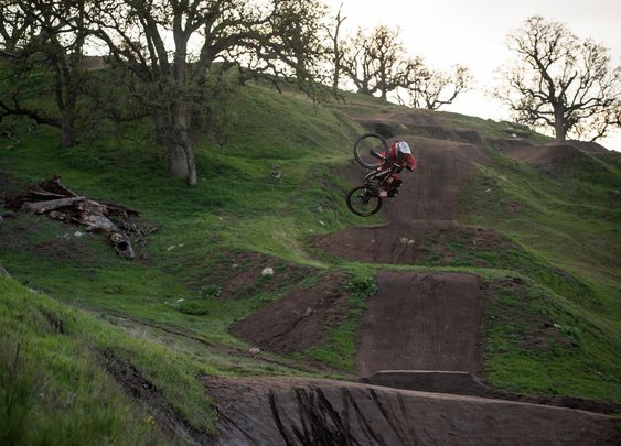 Watch Brandon Semenuk riding a BMX track in the raw