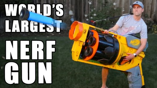 World's LARGEST NERF GUN!! - YouTube