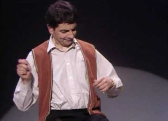 Mr. Bean Plays Invisible Drums