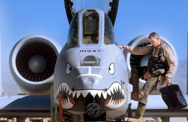 """Airman Plays """"Taps"""" on A-10 Warthog's 30mm Cannon"""