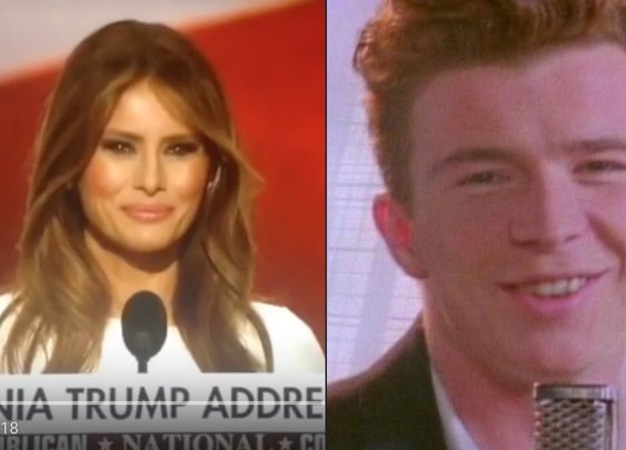 Melania Trump's RNC RICKROLL - YouTube