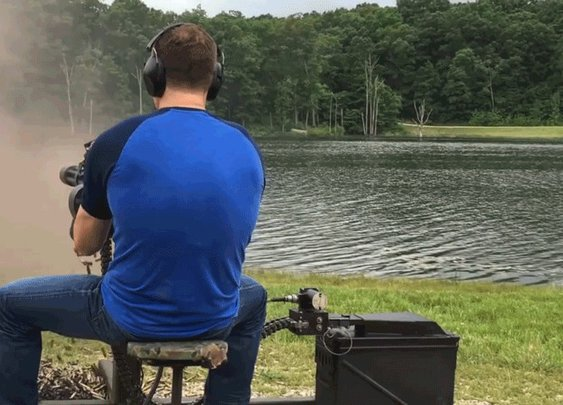 MO Candidate's Latest Ad Is Just Him Shooting a Machine Gun for 20 Seconds