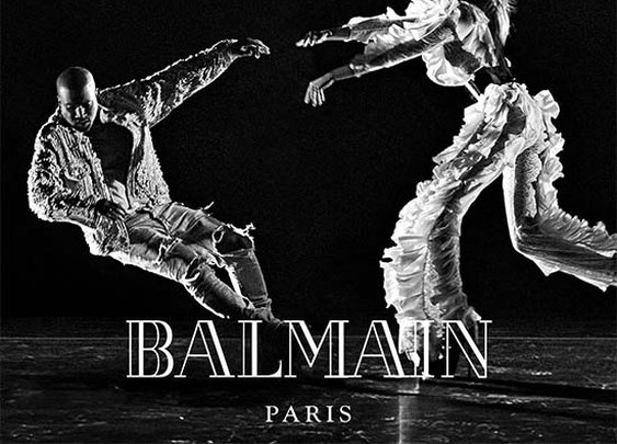 "Kanye West Teams with Balmain For His ""Wolves"" Video"