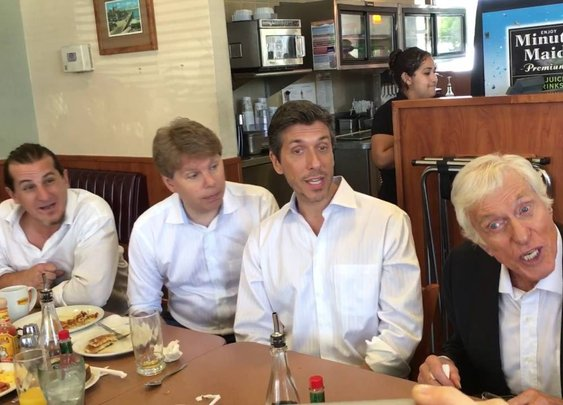 Dick Van Dyke surprises a crowd at Denny's in Santa Monica