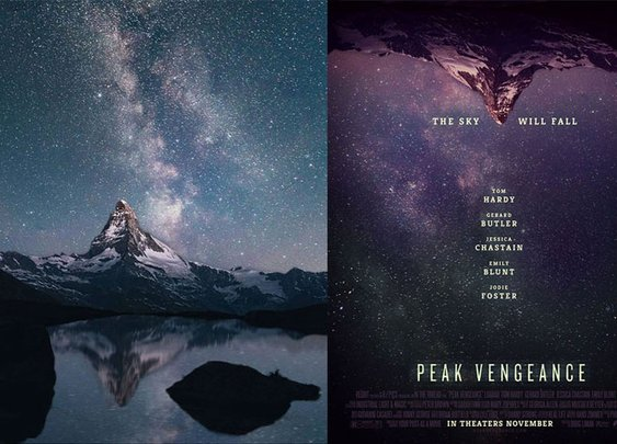 Designer turns random Internet photos into movie posters - Designer Daily