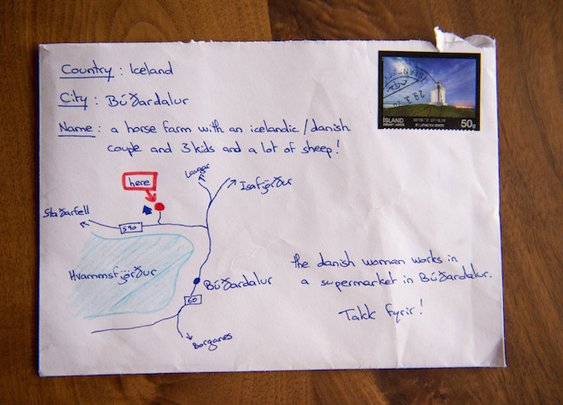 Letter Sent to Iceland with Hand-Drawn Map Instead of Address Actually Arrives at Destination - My Modern Met