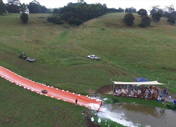 2016 Annual Borrud Slip 'n' Slide - 100 Meters Long