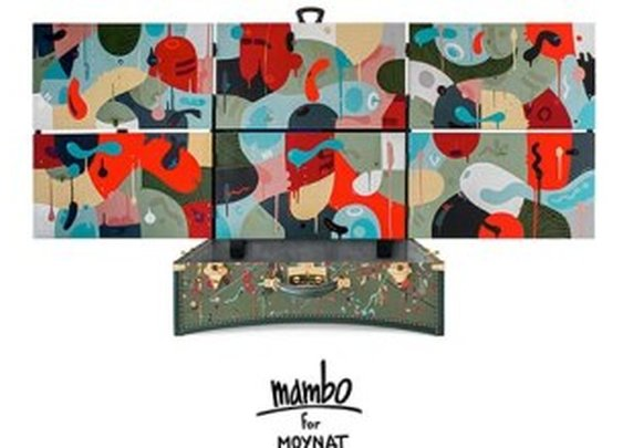 Mambo's arty trunk for Moynat
