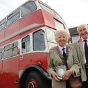 Ken Morgan buys wife Shirley double-decker bus they met on - BBC News