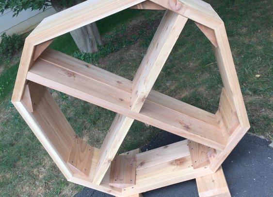 Make a cedar fire wood organizer