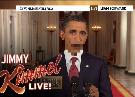 "Jimmy Kimmel's ""Unnecessary Censorship:  Obama Edition"" - YouTube"