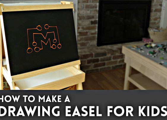 Drawing Easel for Kids (chalkboard, whiteboard, paper roll)