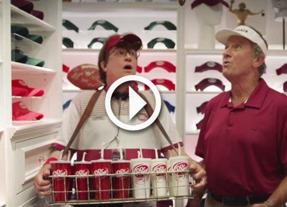 Steve Spurrier in new Dr Pepper Commercial