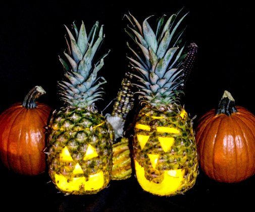 Pineapple Jack-o'-Lantern