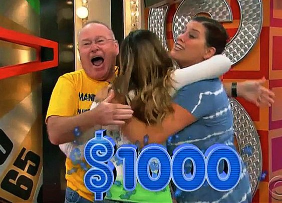 All three Price Is Right contestants spin a dollar