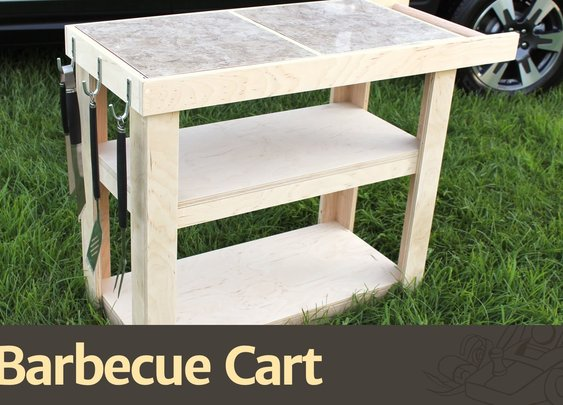 Plywood Barbecue Cart Project