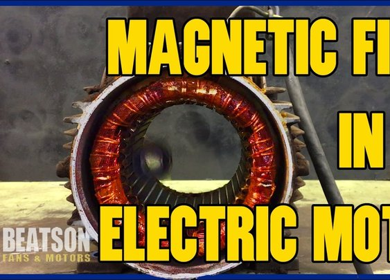 Magnetic Field in an Electric Motor - YouTube