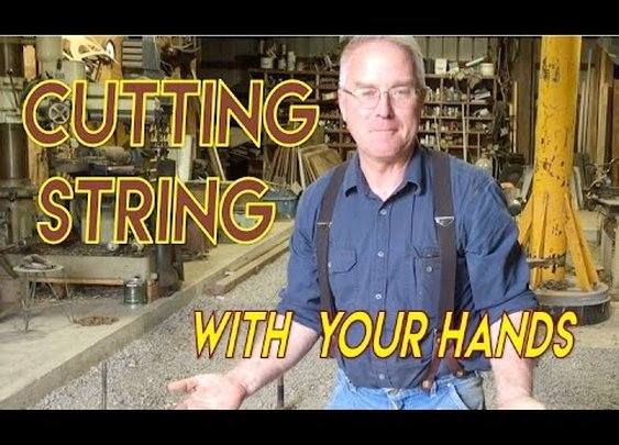 Cutting 300lb Test String with Your Bare Hands
