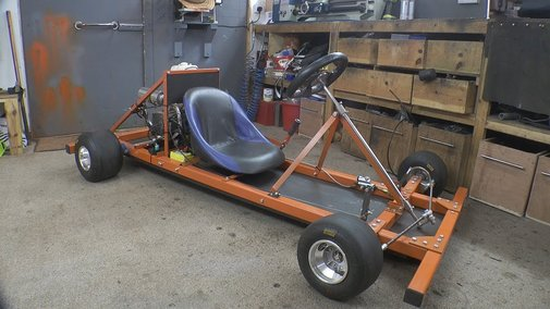 Making a Motorized Go Cart with no welder and simple tools