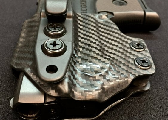 IWB holster for Ruger LCP with the Viridian E-Series Laser from Squid Tactical - Final30.com Tactical