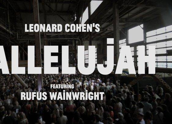 Rufus Wainwright and 1500 Singers sing Hallelujah