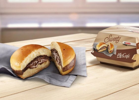 McDonalds Nutella Burger