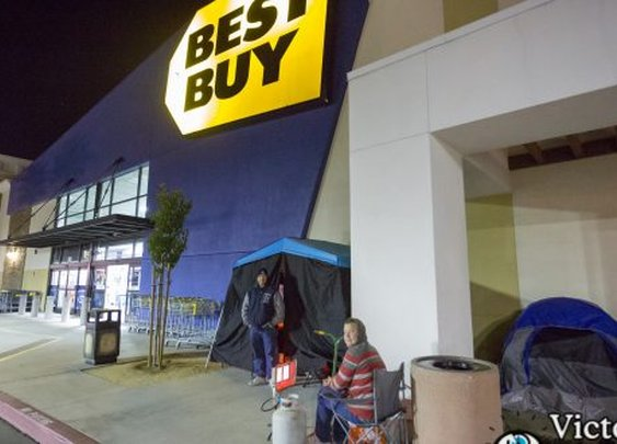 Locals Already Camping Out For Black Friday Deals