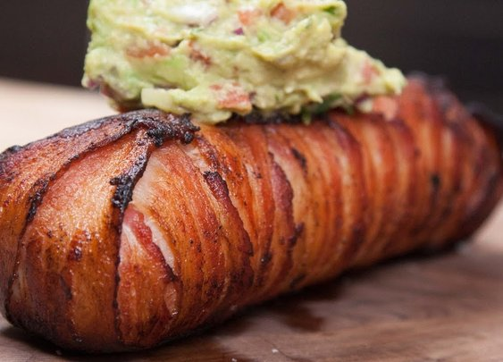 Bacon-Wrapped Steak Breakfast Burrito - YouTube