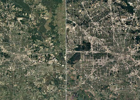 Google Timelapse shows how Texas cities changed over 30 years