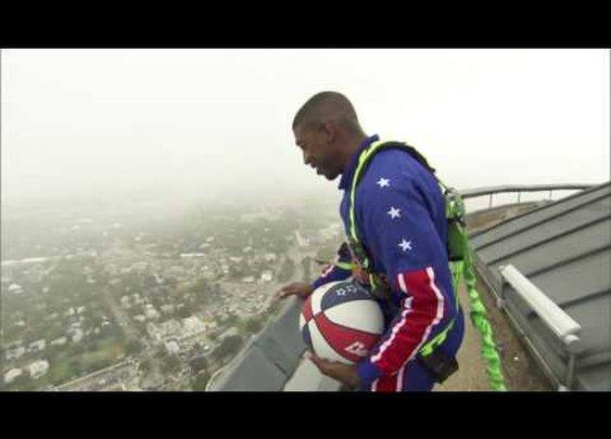 Harlem Globetrotters 583-Foot Basketball Shot