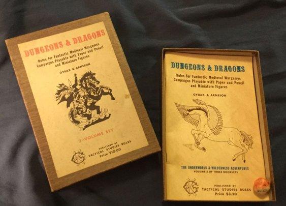 "On Ebay: the rare, original ""woodgrain"" Dungeons & Dragons"
