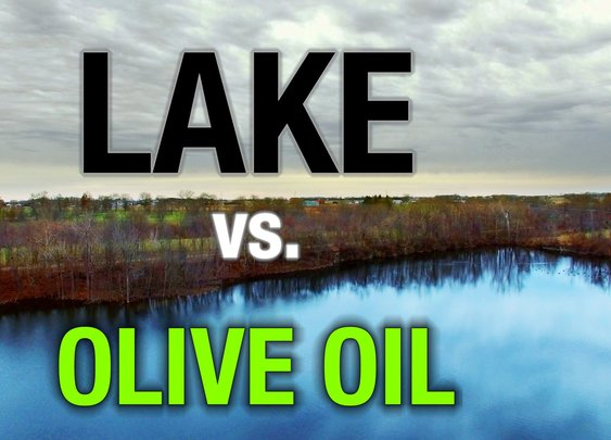 1 TB of Olive Oil Calms Half an Acre of Lake