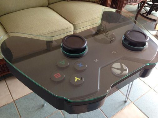 Xbox One controller coffee table gamifies your living room