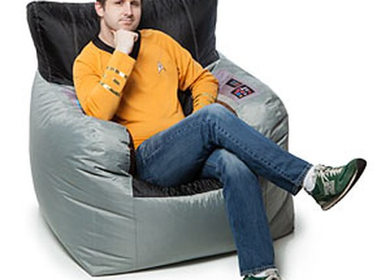Star Trek Kirk's Command Chair Bean Bag Cover | ThinkGeek