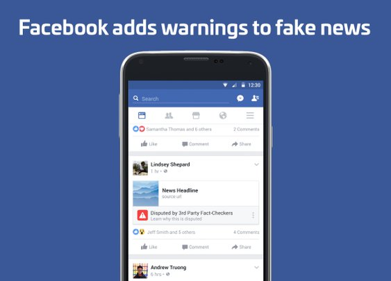 Facebook now flags and down-ranks fake news