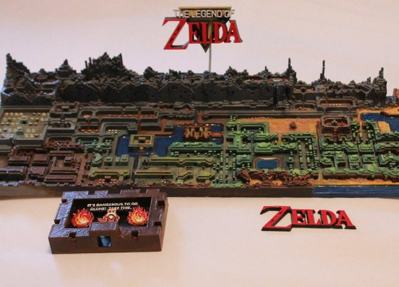 Original The Legend of Zelda Map Gets Printed In 3D