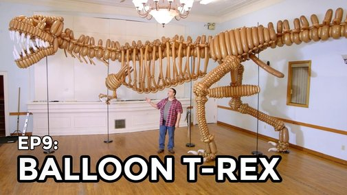 Life-Size T-Rex Dinosaur made of Balloons