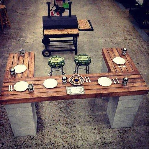 DIY Cinderblock Bar